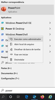 Windows PowerShell Modo administrador